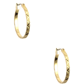 Anne Klein Goldtone Small Leaf Hoop Earrings