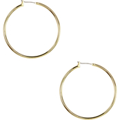Anne Klein Goldtone Large Hoop Earrings