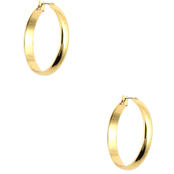 Anne Klein Goldtone Click It Hoop Earrings