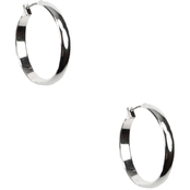 Anne Klein Silvertone Hoop Earrings