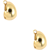 Anne Klein Goldtone Medium Band Hoop Earrings