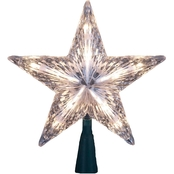 Kurt S. Adler 10 Light Clear Star Christmas Tree Topper