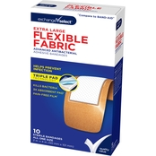 Exchange Select Extra Large Flexible Fabric Adhesive Bandages 10 Pk.
