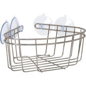 Zenith Products Corner Tub and Shower Brushed Nickel Basket