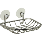 Zenith Products Brushed Nickel Suction Cup Soap Dish Caddy