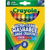 Crayola ColorMax Ultra Clean Washable Large Crayons, 8 ct.