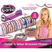 Cra-Z-Art Shimmer 'n Sparkle Twist 'n Wear Bracelet Maker Kit
