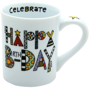 Our Name is Mud Cuppa Doodle Happy Birthday Mug