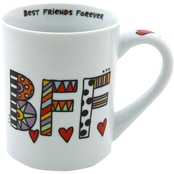 Enesco Our Name is Mud Cuppa Doodle Best Friends Forever Mug