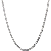 Karizia Sterling Silver 18 in. Flat Mariner Necklace