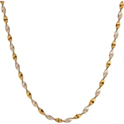 Karizia Sterling Silver 18 in. Twisted Herringbone Necklace