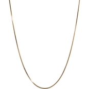 Karizia Gold Plated Sterling Silver 24 in. Round Snake Necklace