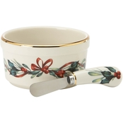 Lenox Winter Greetings Dip Bowl and Spreader