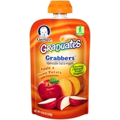 Gerber Graduates Grabbers Apple Sweet Potato Squeezable Fruit &  Veggies 4.23 Oz.