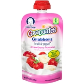 Gerber Graduates Grabbers 4.23 oz. Strawberry and Banana Fruit and Yogurt Pouch