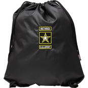 Star Accessories Military Insignia Drawstring Backpack, Army Retired