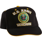 Star Accessories Embroidered Veteran Military Logo Cap