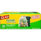 Glad 30 Gallon Recycling Trash Bags with Drawstring, 28 ct.