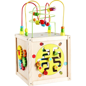 Classic Toy Multi-Activity Cube with Wheels Play and Learn Toy