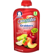 Gerber Graduates Grabbers Apple, Pear and Peach 4.23 oz. Squeezable Pouch