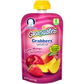 Gerber Graduates Grabbers Squeezable Fruit Apple Mango and Strawberry 4.23 Oz.