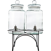 Gibson Party Duo Beverage Dispenser with Stand