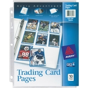 Avery Trading Card Pages, Acid Free, 10 pk.