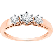 14K Pink Gold 1/2 CTW Diamond Fashion Ring