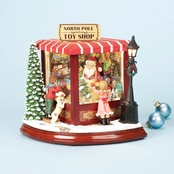 Roman Santa's North Pole Toy Shop Music Box