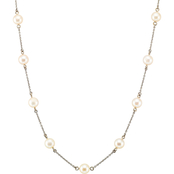 Blue Lagoon by Mikimoto 14K White Gold 5mm Akoya Pearl 18 in. Tin Cup Necklace