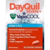 Vicks DayQuil Max Strength Severe Cold & Flu Caplet 24 Pk.