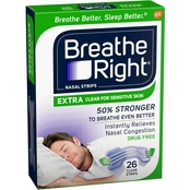 Breathe Right Extra Clear Nasal Strips 26 Ct.