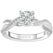 Harout R 14K White Gold 1 1/5 CTW Tina Diamond Engagement Ring