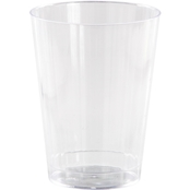 Sensations 12oz Plastic Fluted Tumbler Clear, 8ct