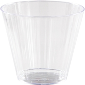 Sensations 9oz Plastic Fluted Tumber Clear, 8ct