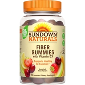 Sundown Naturals Fiber with D3 Gummies 50 Pk.
