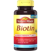 Nature Made Maximum Strength Biotin Dietary Supplement 5000 mcg Softgels 50 Ct.