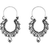 PalmBeach Sterling Silver Openwork Scroll Earrings