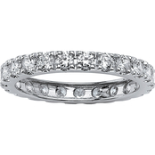 PalmBeach 10K White Gold Cubic Zirconia Eternity Band