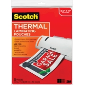 Scotch Thermal Lamination Pouches, 8.5 X 11 in. 20 Pk.