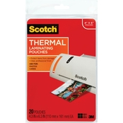 Scotch Thermal Lamination Pouches, 20 Pk.