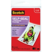 Scotch Lamination Film, 4 in. x 6 in. 5 Pk.