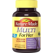 Nature Made Multi For Her With Iron & Calcium Tablets 90 Ct.