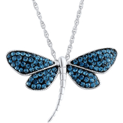 Sterling Silver Montana Crystal Dragonfly Pendant