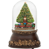 Roman Glitterdome Musical Revolving Christmas Tree and Train