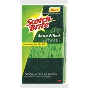 Scotch Brite Soap Filled Heavy Duty Sponge 6 Pk.