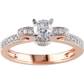 Diamore 14K Rose Gold 1/2 CTW Diamond Engagement Ring