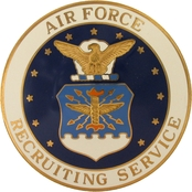 Air Force Recruiting Service Gold Duty Badge, Regular Size
