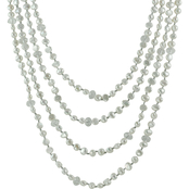 100 in. 6 to 7mm Freshwater Cultured Pearl and Crystal Necklace