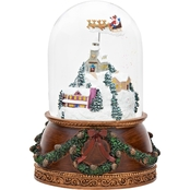Roman Musical Town Scene Glass Glitter Dome